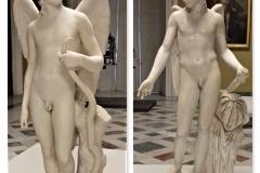 Amorino-alato-marmo-Antonio-Canova-1794-Museo-statale-Ermitage-San-Pietroburgo-Eros-tipo-centocelle-marmo-II-dC-Museo-Archeologico-di-Napoli