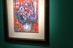 QUARTA SEZIONE un pittore con le ali Mazzo di fiori su sfondo rosso