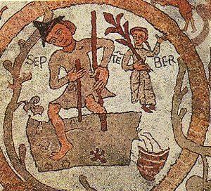 Mese di Settembre raffigurato sul pavimento della Cattedrale di Otranto