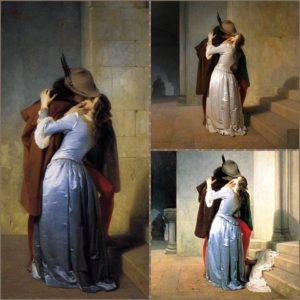Il bacio: tre versioni a confronto